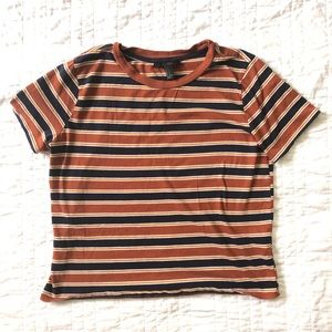 Orange stripe tee